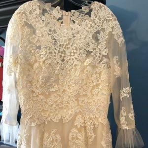 Cream bridesmaid/ Formal gown